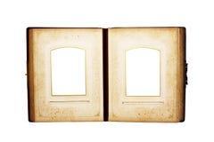 Destinerad bok för öppet antikt läder Royaltyfri Foto
