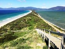 Destino bonito do feriado na ilha de Austrália Tasmânia Bruny fotos de stock royalty free