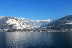 Destino da neve landscape Foto de Stock Royalty Free