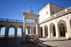 Destino de la abadía de Montecassino, religioso e histórico en Cassino Italia Foto de archivo