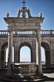 Destino de la abadía de Montecassino, religioso e histórico en Cassino Italia Imagen de archivo