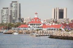 Destino del viaje; Faro de Parkers en Long Beach CA Imagen de archivo