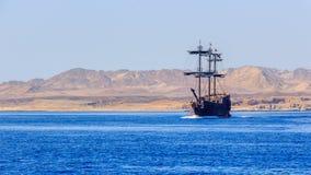 Destino del viaje, isla del paraíso en el Mar Rojo Fotografía de archivo
