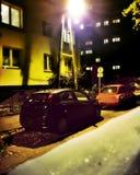 Destino desconocido Noche criminal Foto de archivo