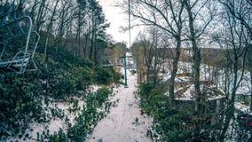 Destino do recurso de esqui da montanha do açúcar de North Carolina fotografia de stock