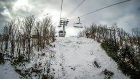 Destino do recurso de esqui da montanha do açúcar de North Carolina fotografia de stock royalty free