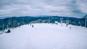 Destino do recurso de esqui da montanha do açúcar de North Carolina imagem de stock royalty free