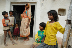 Destino dos povos de Khajuraho Imagem de Stock