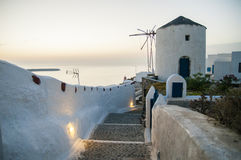 Destino e cenário do curso da ilha de Santorini Imagens de Stock