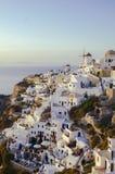 Destino e cenário do curso da ilha de Santorini Imagem de Stock