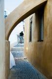 Destino e cenário do curso da ilha de Santorini Imagem de Stock Royalty Free