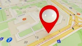 Destino en el mapa Búsqueda de los gps por satélite Muchas señales 136 de los gps libre illustration
