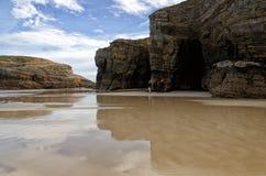 Destino español, Playa de las catedrales foto de archivo libre de regalías
