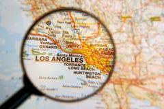 Destino Los Angeles fotografia de stock
