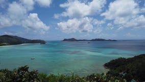 Destino luxuoso tropical de Seychelles vídeos de arquivo