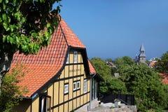 Destino popular del restaurante en Bornholm Imagen de archivo