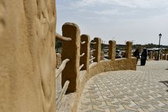 Destino turístico, centro turístico de montaña de Al Qarah, en la tierra de la civilización imagenes de archivo