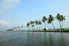 Destinos bonitos da maré de Kerala foto de stock