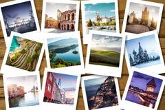 Destinos da lista da cubeta fotografia de stock royalty free