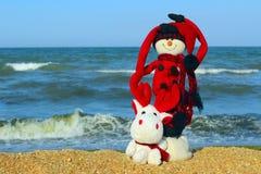 Destinos del viaje de los días de fiesta de la Feliz Año Nuevo y de la Feliz Navidad en concepto caliente de los países Imagenes de archivo