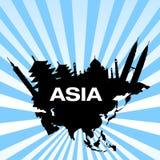 Destinos do curso em Ásia ilustração royalty free