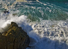Destiny. Strong storm on the coast of galicia Stock Photography