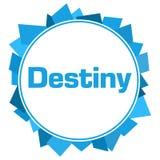 Destiny Blue Random Shapes Circle vektor illustrationer