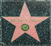 Destiny Child's star on Hollywood Royalty Free Stock Photography