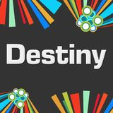 Destiny Dark Colorful Background Images libres de droits