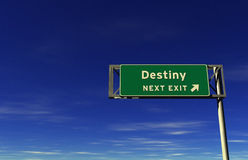 Destiny - Freeway Exit Sign Royalty Free Stock Photo