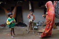 Destiny of The Khajuraho People. May 11,2012 Dhoguba,Khajuraho,Madhya Pradesh,India,Asia- People at the Khajuraho village. Khajuraho- In spite of its global Stock Photography