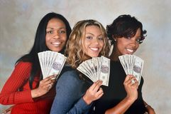 Destiny`s Child. LONDON, ENGLAND - NOV 18, 2000: Michelle Williams, Beyoncé Knowles and Kelly Rowland singers of Destiny`s Child during a photoshoot in London stock images