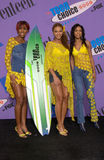 Destiny's Child. Pop group DESTINY'S CHILD at the 2001 Teen Choice Awards at the Universal Amphitheatre, Hollywood. They won the award for Choice Pop Group Stock Images