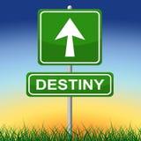 Destiny Sign Means Future Pointing och pilar Royaltyfri Fotografi