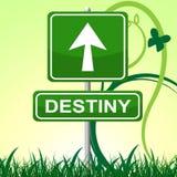 Destiny Sign Represents Pointing Progress et avenir Image stock