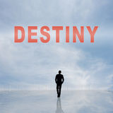 Destiny. Sign on the sky stock images
