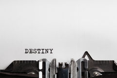 Destiny. typewriter with paper sheet Royalty Free Stock Images