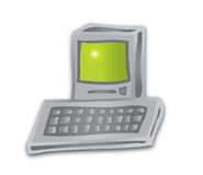 Destop Computer. A illustration of a desktop computer vector illustration