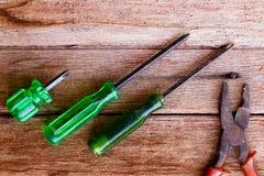 Destornillador verde Imagen de archivo libre de regalías