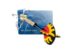 Destorying your credit card Royalty Free Stock Photos