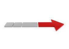 destra grigia rossa della freccia 3d Immagini Stock Libere da Diritti