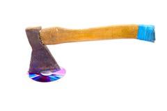 Destral y mecanismo impulsor de DVD Imagen de archivo libre de regalías