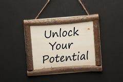 Destrave seu potencial imagem de stock