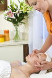 Destressing Facial Treatment Stock Photos