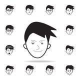 destreza no ícone da cara Grupo detalhado de ícones faciais das emoções Projeto gráfico superior Um dos ícones da coleção para We ilustração royalty free