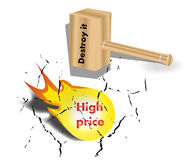 Destroy high price DESIGN. Can be used by many companies Stock Photography