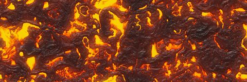 Destroy molten- nature pattern. Abstract lava textured. Ground hot lava. Burning coals- crack surface. Abstract nature pattern- glow faded flame. Danger terrain royalty free stock image