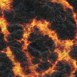 Destroy molten- nature pattern. Abstract textured. Background lava. Burning coals- crack surface. Abstract nature pattern- glow faded flame. Danger terrain royalty free stock photography