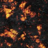 Destroy molten- nature pattern. Abstract textured. Background lava. Burning coals- crack surface. Abstract nature pattern- glow faded flame. Danger terrain Royalty Free Stock Image