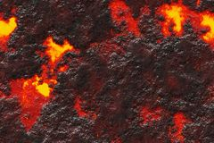 Destroy molten- nature pattern. Abstract textured. Background lava. Burning coals- crack surface. Abstract nature pattern- glow faded flame. Danger terrain- 3d stock illustration